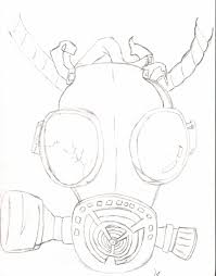 gas mask drawing by da1825 on deviantart