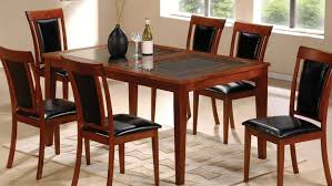 Black Wood Dining Chair Kitchen Dark Wood Dining Chairs With Dark Leather Seat Dark Wood