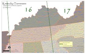 Tennessee State Map by Ky Tn State Plane And Utm U2014 Urban Forest Strike Teams