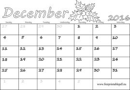 printable december 2016 calendar pdf december 2016 calendar blank printable free printable pdf