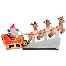 peanuts airblown inflatables santa reindeer sleigh floating christmas airblown