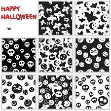 halloween seamless background collection of halloween seamless patterns royalty free cliparts
