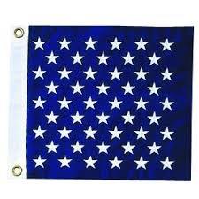 Blue Flag With Stars Nyl Glo U S Union Jack Flag With Embroidered Stars Assorted Sizes