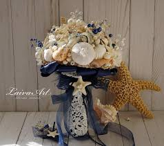 wedding bouquets with seashells wedding shell bouquet starfish bouquet wedding