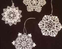 snowflake lace etsy