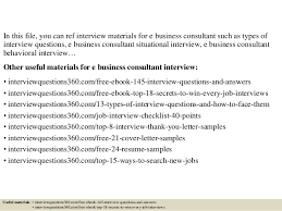 top 10 e business consultant interview questions and answers