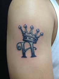 left leg crown tattoo design real photo pictures images and