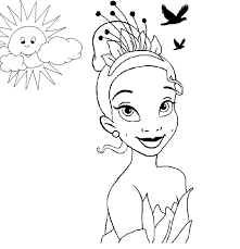 princess tiana coloring pages chuckbutt com