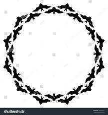 halloween background repeating cute background halloween pattern border frame stock illustration