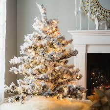 4 5 flocked alaskan dura lit tree with 300 clear lights