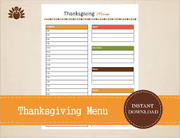 thanksgiving day planner templates happy thanksgiving