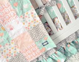Shabby Chic Baby Bedding For Girls by Bright Pink Baby Bedding Teal Pink Gray Crib