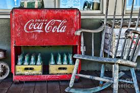 Coca Cola Chairs Coca Cola Vintage Cooler And Rocking Chair Photograph By Paul Ward