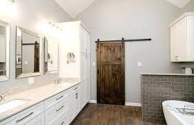 Barn Door Ideas For Bathroom Sliding Barn Door Bathroom Vanity Shower With Frosted Glass Barn
