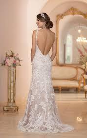 wedding dress open back backless wedding dresses v neck wedding gown with open back