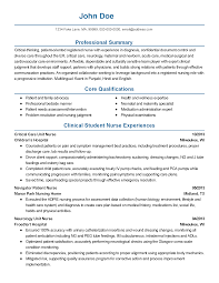 Resume For Nurses Free Sample by Critical Care Rn Resume Best Free Resume Collection