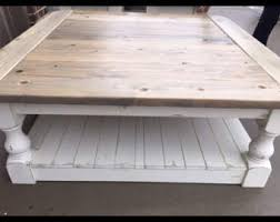 square gray wood coffee table large square rustic baluster wide plank coffee table farmhouse