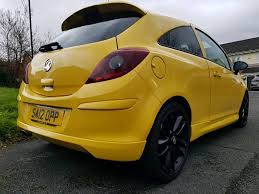 vauxhall yellow vauxhall corsa 2012 12 plate limited edition yellow rare in