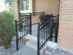 steel porch railing materials for front porch railing