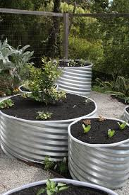 wooden garden planters ideas landscape eclectic with deer fence