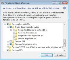 configurer bureau à distance windows 7 configuration de l administration à distance sous iis fabien