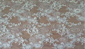 china custom bridal wedding chemical embroidery lace swiss water