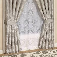 Silver Chandelier by Chandelier Damask Window Treatment By J Queen New York