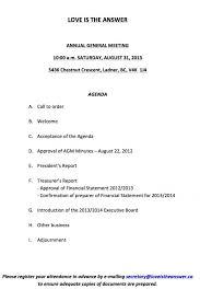 treasurer s report agm template meeting annual general meeting agenda template