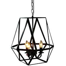 Home Depot Bronze Chandelier Edison Shandie Collection 3 Light Antique Bronze Indoor Geometric