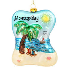 beach scene with palm tree glass ornament bronner u0027s christmas