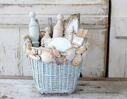 Basket Home Decor Seashell Home Decor Basket Crafts Beach Chic Decor And Decorating