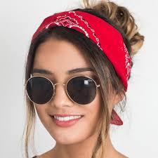 cool headbands korea fashion 2017 women hair accessories linen bandana scarf