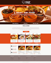 sell365 s food template one of the best website builder in india