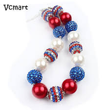 large red bead necklace images Vcmart 2pcs girls boutique style chunky bubblegum beaded necklace jpg