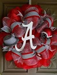 alabama ribbon 350 best school wreaths images on sports wreaths