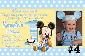 baby mickey 1st birthday mickey 1st birthday custom invitation