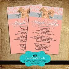 coral quinceanera invitations coral quinceanera invitations with