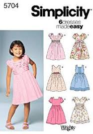 amazon com simplicity sewing pattern 5704 child dresses a 3 4 5