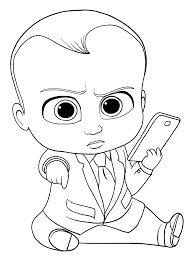 the boss baby coloring pages getcoloringpages com