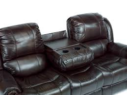 Leather Sofa And Recliner Set by Black Leather Reclining Sofa With Cup Holders Tehranmix Decoration