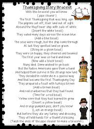 grade wow retelling thanksgiving with a bracelet