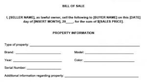 6 free bill of sale templates excel pdf formats