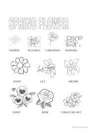 spring flower worksheet free esl printable worksheets made by