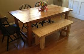 Rustic Farmhouse Dining Room Tables Bench Trendy Dining Table Bench Plans Dining Room Tables With