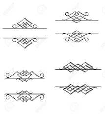 Victorian Design Style by Vintage Monograms And Motifs In Victorian Style For Design Royalty