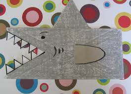 shark paper bag puppet easy craft for kids toddlers preschoolers