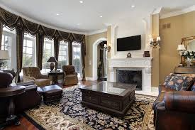 Traditional Family Room Furniture Layout Ideas With Fireplace And - Family room sofa sets