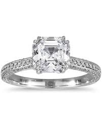 Vintage Style Cushion Cut Engagement Rings Asscher Cut Diamond Engagement Rings Martha Stewart Weddings