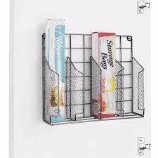 Wire Baskets For Kitchen Cabinets Wire Basket Food Wrap Aluminum Foil Wax Paper Organizer Kitchen