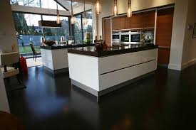 Two Kitchen Islands Flooring Ideas Dark Laminate Flooring For Modern Kitchen Design